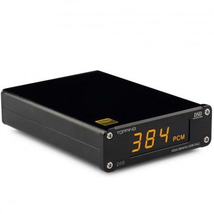 TOPPING D10 USB DAC 32bit/348khz DSD 256 XMOS U208 ES1918K2M
